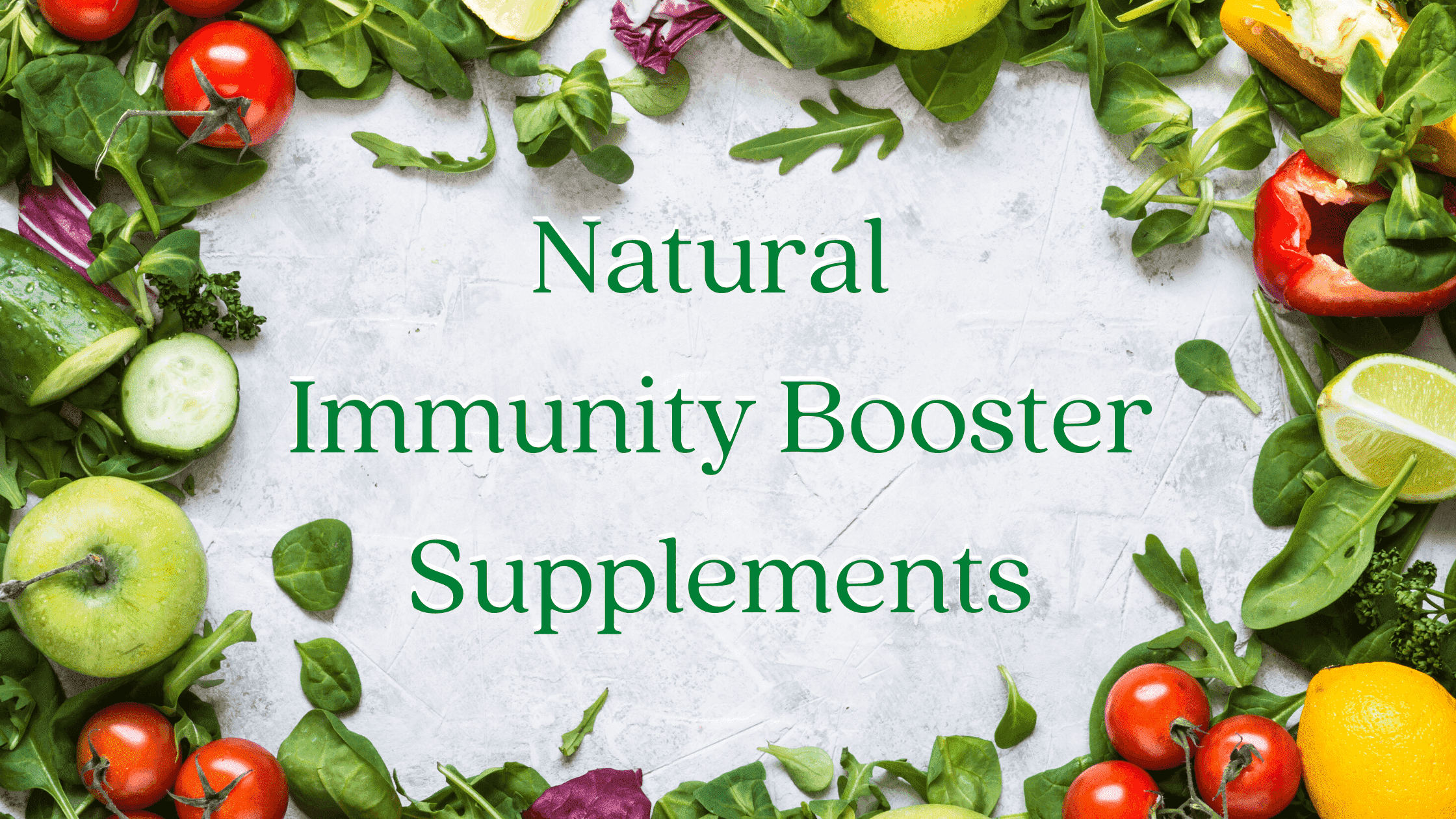 Natural Immunity Booster Supplements